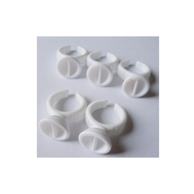 Anillo para adhesivo de extensiones de pestañas